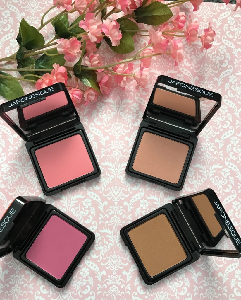 Japonesque Velvet Touch Blushes, open to show shades 01, 02, 04, 05 neversaydiebeauty.com