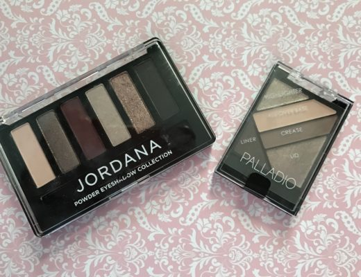 Jordana Made to Last Eyeshadow Collection vs Palladio Silk FX Eyeshadow Palette, both in plum shades neversaydiebeauty.com