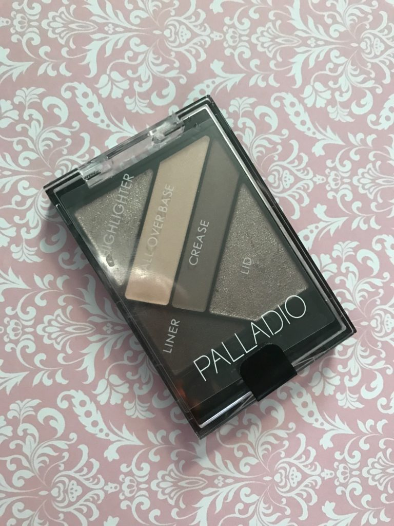 Palladio Silk FX Eyeshadow palette in Debutante, with labels on where to use each shade neversaydiebeauty.com
