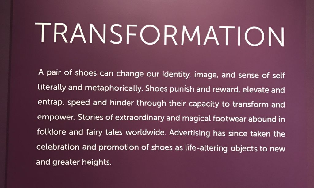 exhibition commentary at Shoes exhibit at Peabody Essex Museum