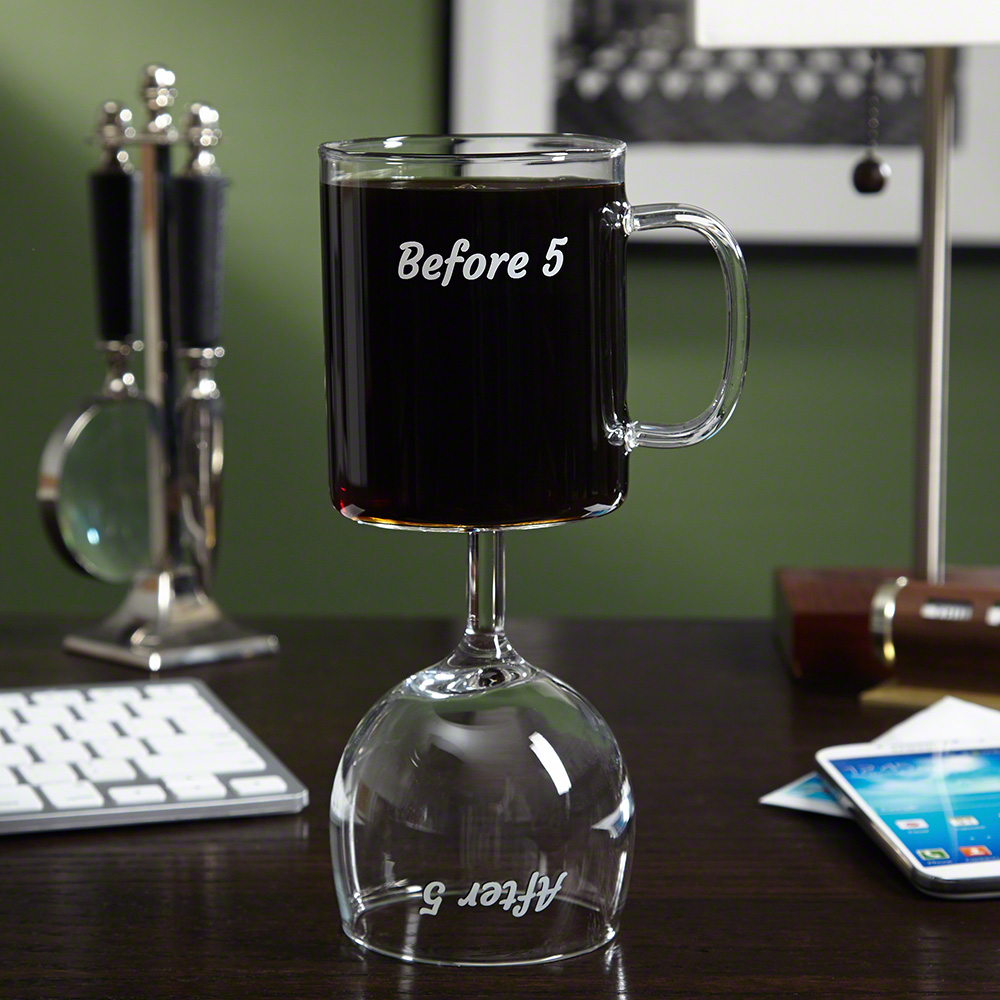 combo wine glass/coffee mug from HomeWetBar.com