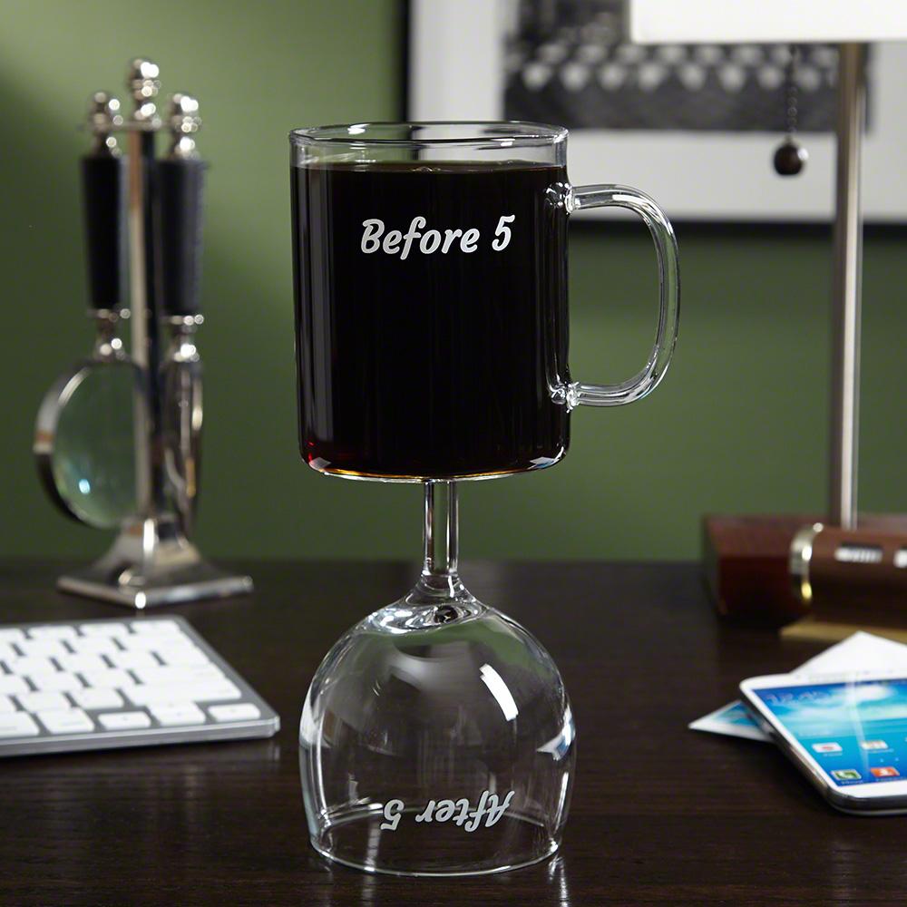combo wine glass/coffee mug from HomeWetBar.com