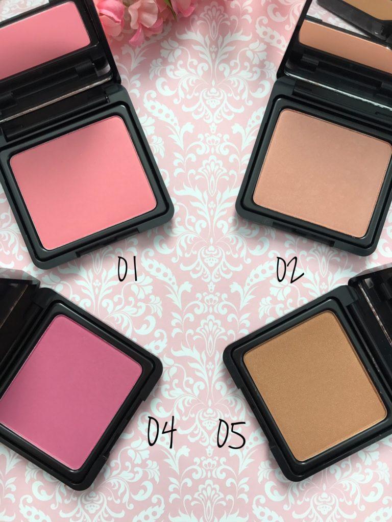 closeup Japonesque Velvet Touch blush open compacts 01, 02, 04, 05 neversaydiebeauty.com