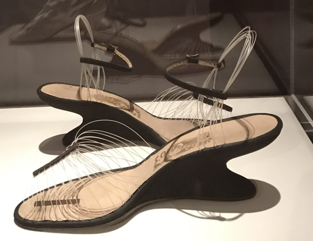 "Invisible shoes, Ferragamo 1997, Peabody Essex Museum ""Shoe"" exhibit"
