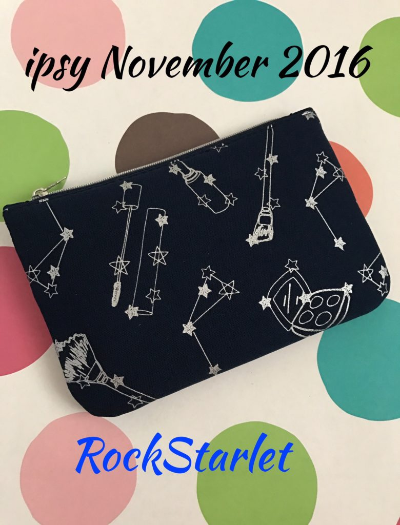ipsy bag, RockStarlet, November 2016 neversaydiebeauty.com
