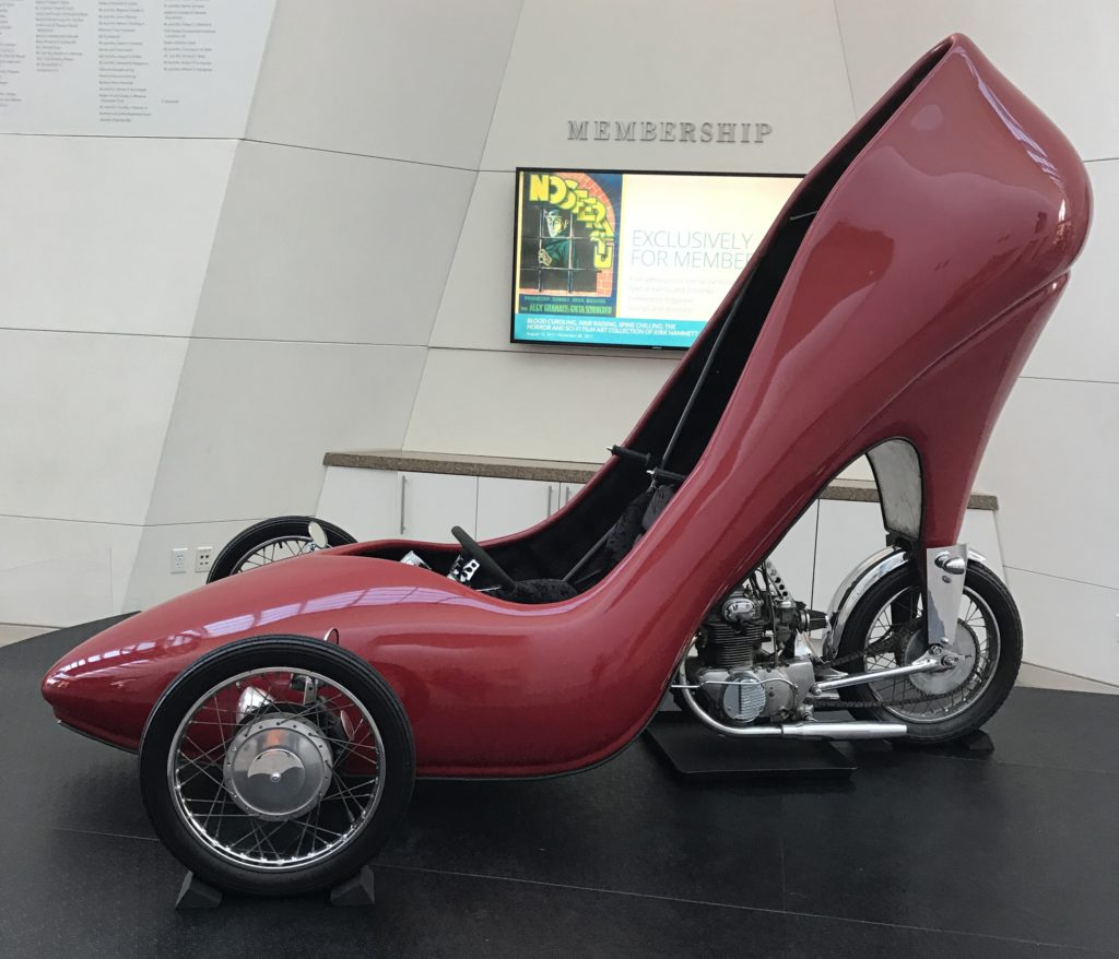 """shoemobile"" in the lobby of Peabody Essex Museum neversaydiebeauty.com"