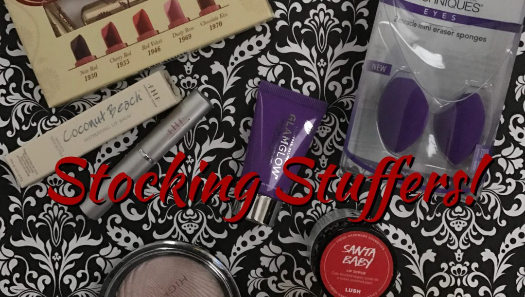 stocking stuffers beauty with title in the middle neversaydiebeauty.com