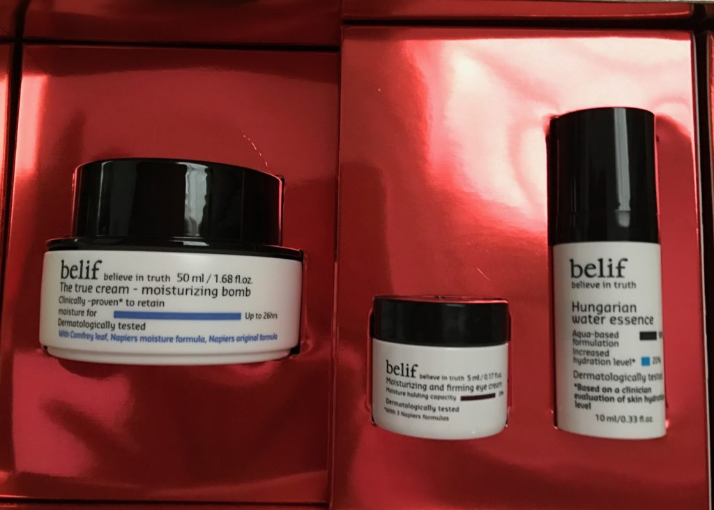 skincare products in Belif Don't Be Flaky skincare kit, neversaydiebeauty.com