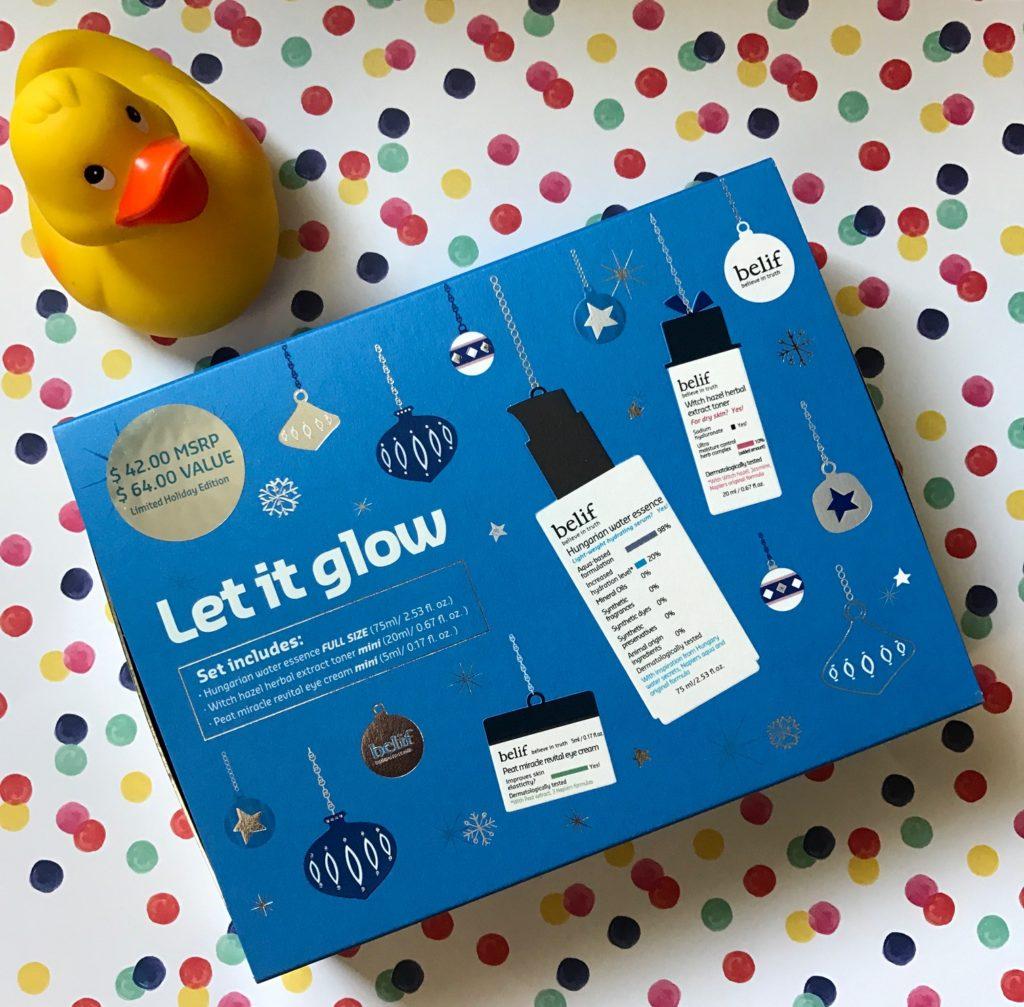 Belif Let It Glow skincare kit, neversaydiebeauty.com