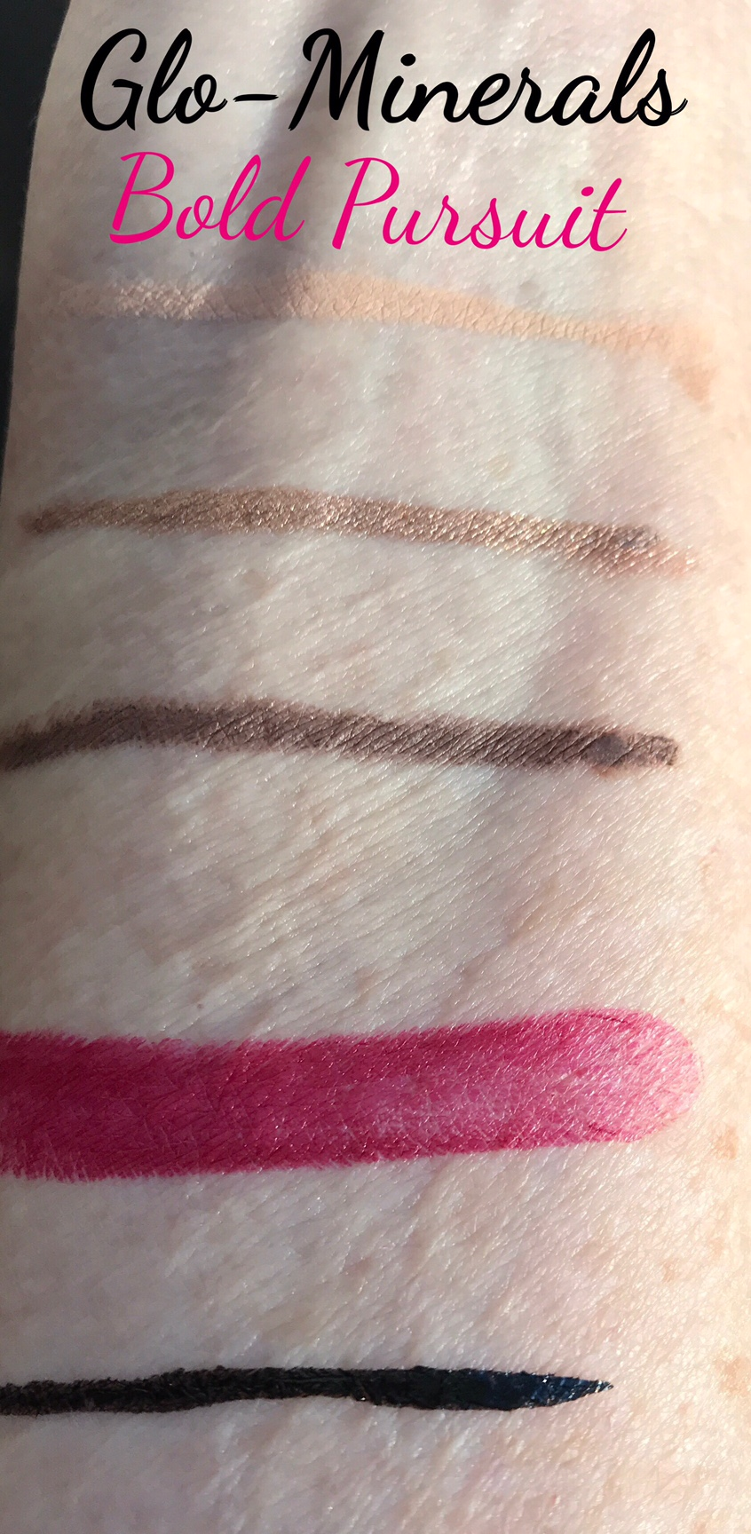 GloMinerals Bold Pursuit holiday makeup collection 2016 swatches neversaydiebeauty.com