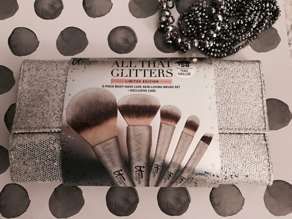 IT Cosmetics for Ulta All That Glitters silver clutch, neversaydiebeauty.com