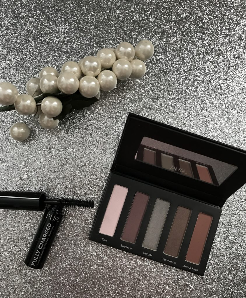PUR Cosmetics Revolution Mini Shadow Palette & travel size Fully Charged Mascara, neversaydiebeauty.com