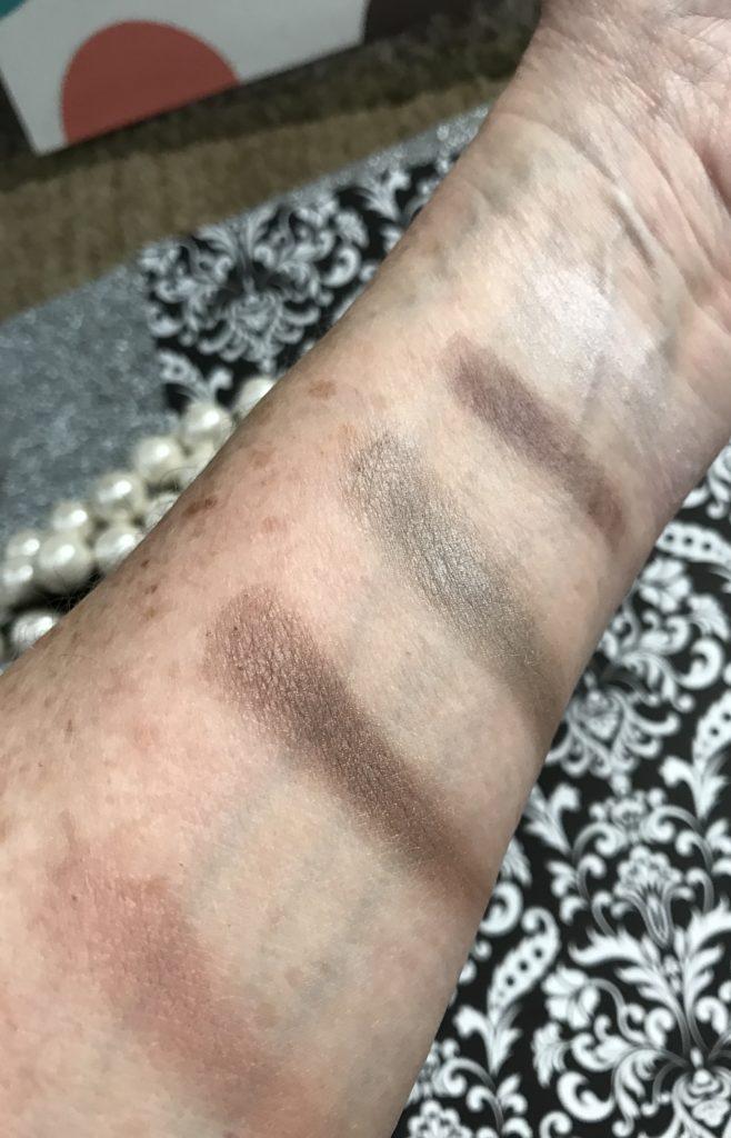 PUR Cosmetics Revolution eyeshadow arm swatches, no primer neversaydiebeauty.com