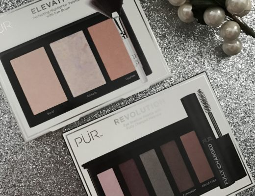 PUR Cosmetics back of the boxes: Elevation Highlighter Palette & Revolution Shadow Palette neversaydiebeauty.com