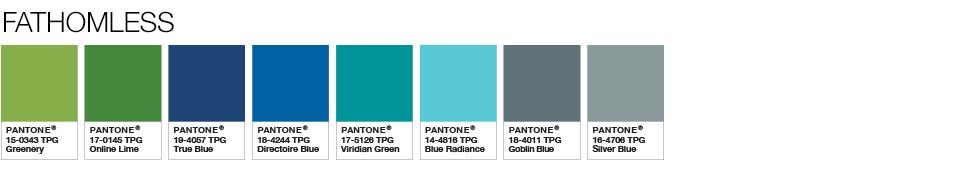 Pantone Fathomless shades