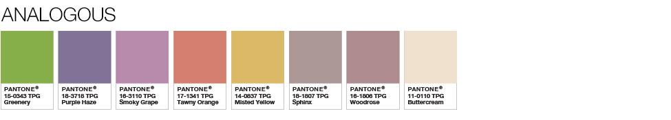 Pantone Analagous shades