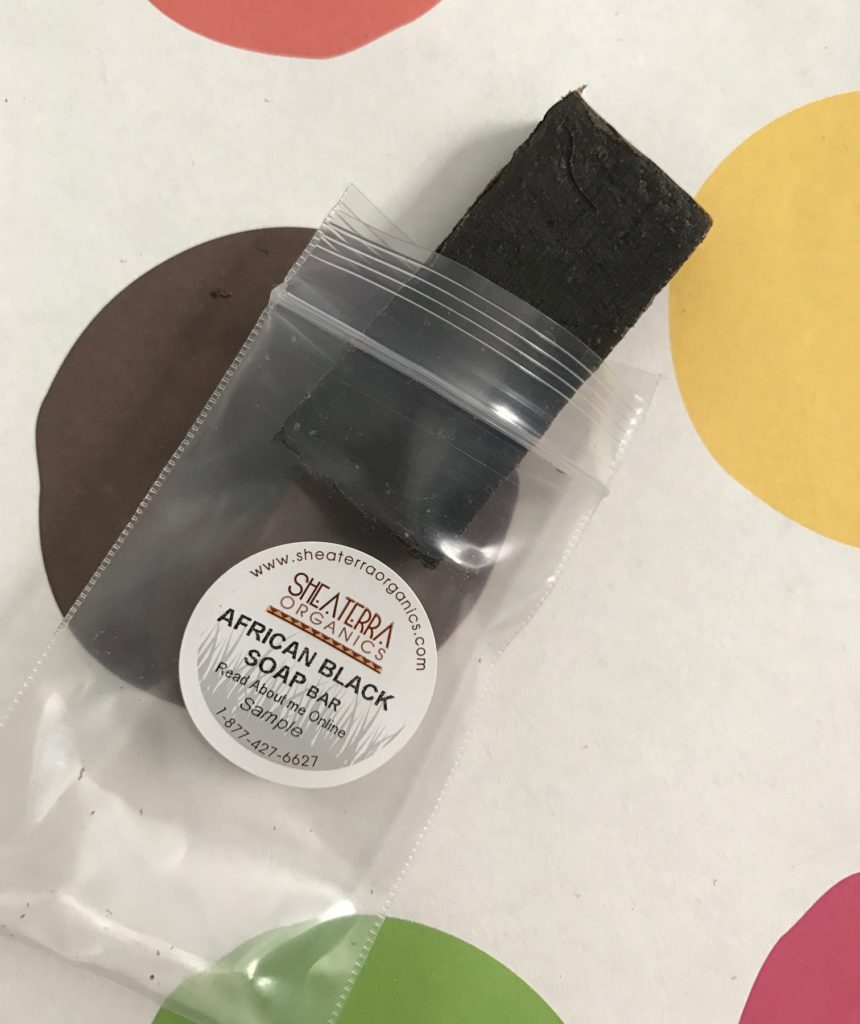 Shea Terra Organics African Black Soap, sample neversaydiebeauty.com