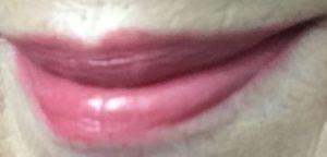 my lips wearing TATCHA Sunrise lipstick, a pink/mauve shade neversaydiebeauty.com