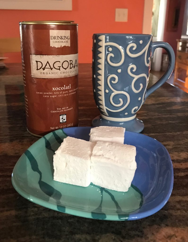cocoa and homemade marshmallows, neversaydiebeauty.com