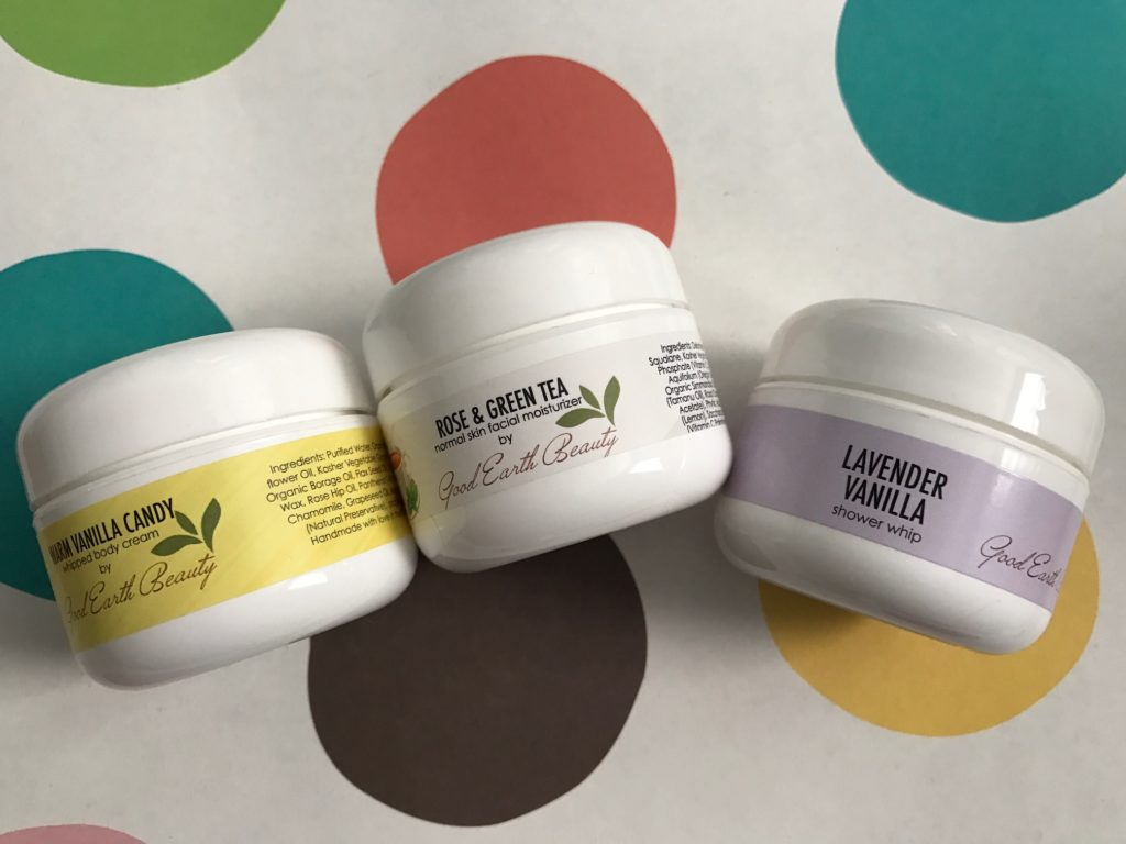 sample size creams in jars from Good Earth Beauty neversaydiebeauty.com