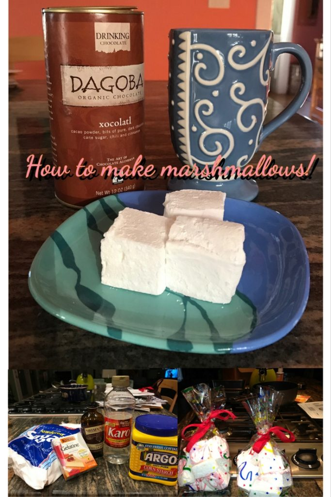 Pinterest size montage of How to Make Marshmallows, neversaydiebeauty.com