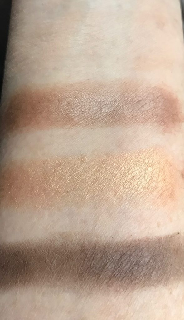 swatches 01 Down To Earth Eye Quad, The Body Shop, neversaydiebeauty.com