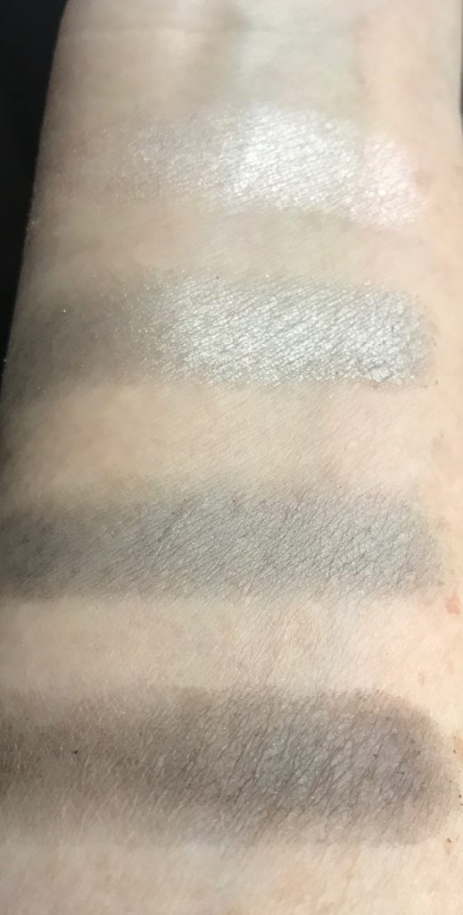 swatches 03 Down To Earth Eye Quad, The Body Shop, neversaydiebeauty.com