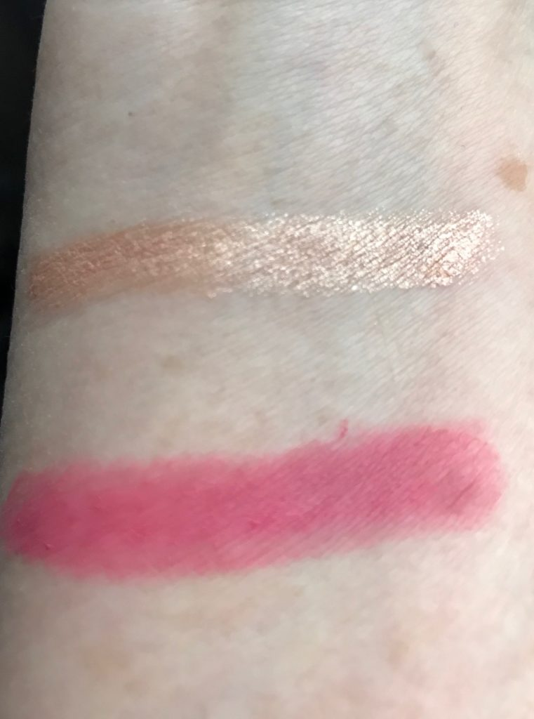 swatchesswatches: Cream Shadow in Nevada Rose and Colour Crush Matte Lipstick from The Body Shop, neversaydiebeauty.com