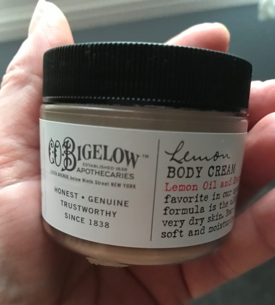 C.O. Bigelow Lemon Body Cream, jar, neversaydiebeauty.com