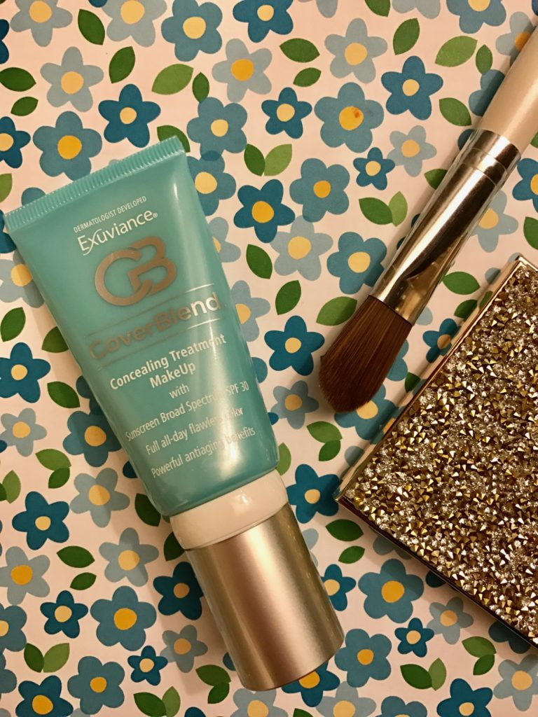 Exuviance CoverBlend Concealing Treatment Makeup SPF 30 tube, neversaydiebeauty.com
