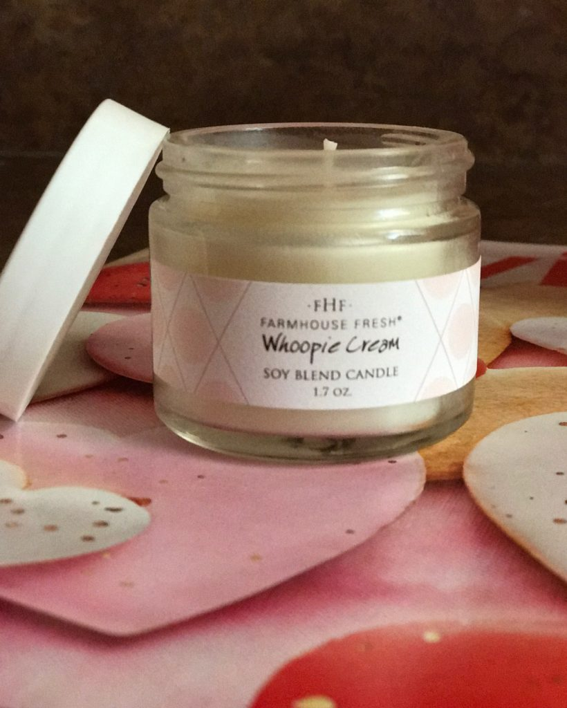 Farmhouse Fresh Whoopie Cream Soy Blend Candle, travel size, neversaydiebeauty.com