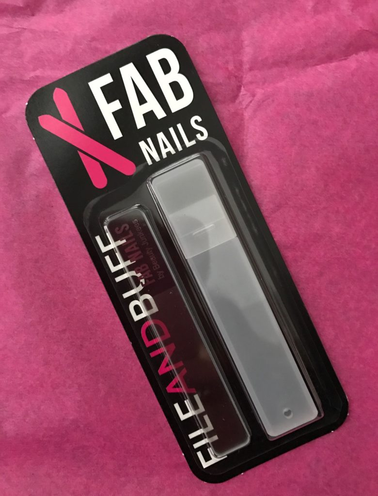 Beauty Junkees Fab Nails Glass Nail File & Buffer in blister pack, neversaydiebeauty.com