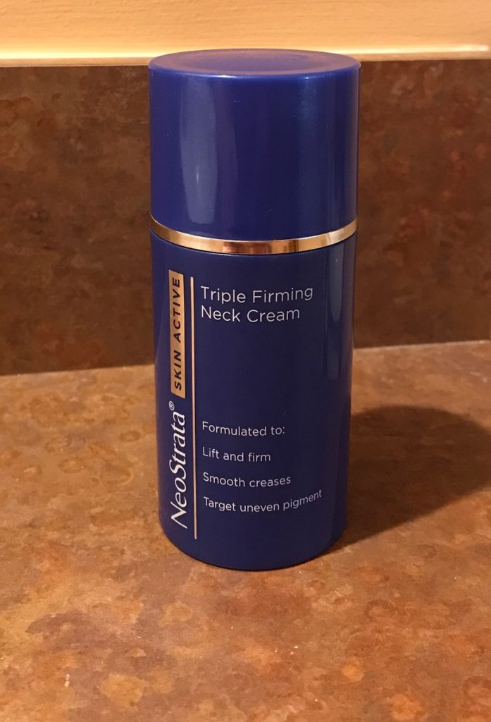 NeoStrata Firming Neck Cream bottle, neversaydiebeauty.com