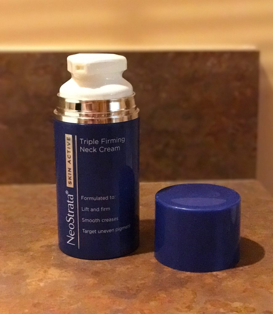 NeoStrata Firming Neck Cream pump bottle, neversaydiebeauty.com