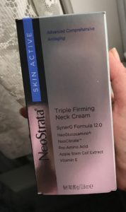 NeoStrata Triple Firming Neck Cream box, neversaydiebeauty.com