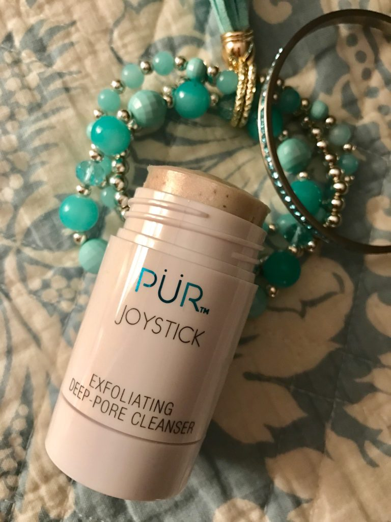 PUR Cosmetics Joystick Exfoliating Deep Pore Cleanser, open tube, neversaydiebeauty.com