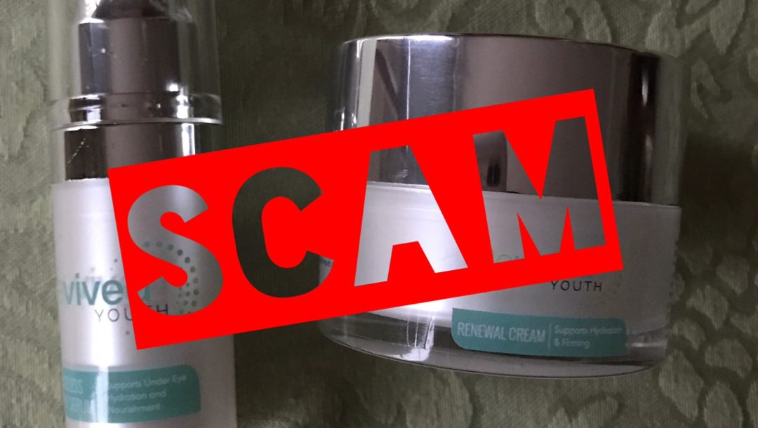 Revived Youth skincare products that were a scam purchase