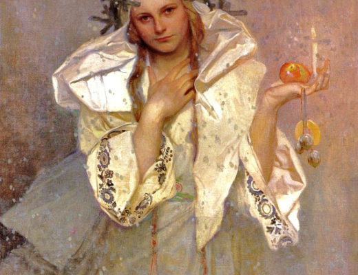painting used by Alkemia Perfume for a limited edition Christmas perfume