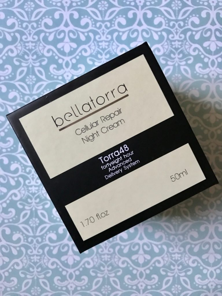 Bellatorra Cellular Repair Night Cream, outer box, neversaydiebeauty.com