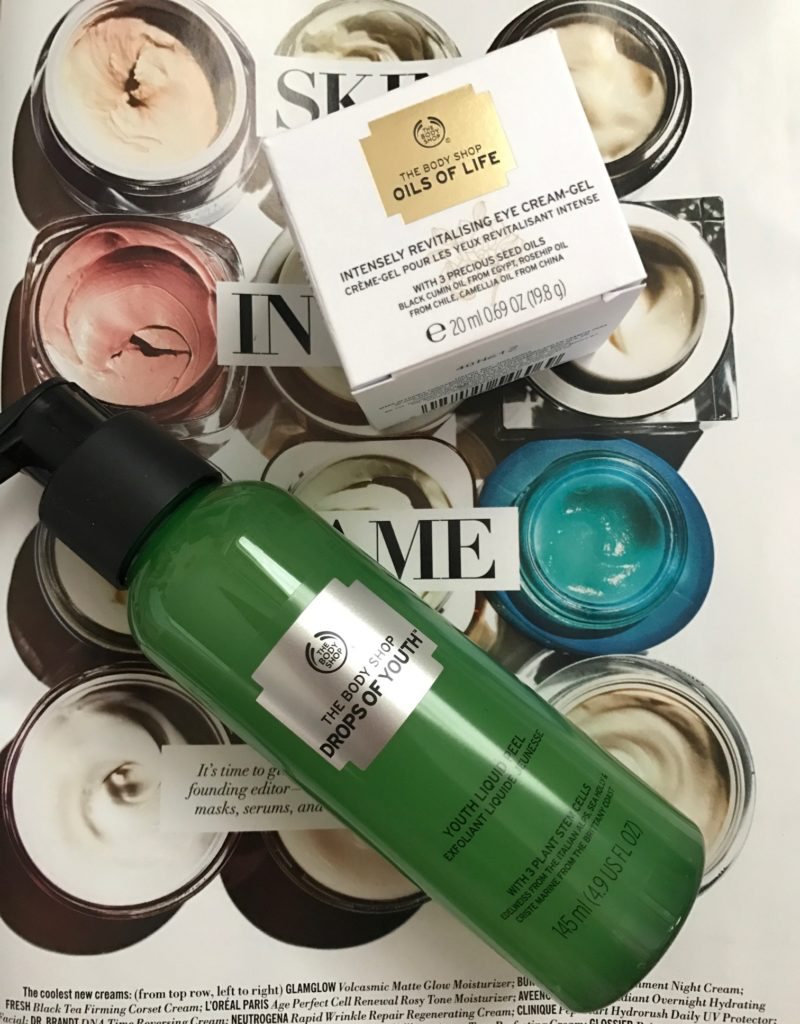 The Body Shop Drops of Youth Youth Liquid Peel & Oils of Life Intensely Revitalizing Eye Cream Gel, neversaydiebeauty.com