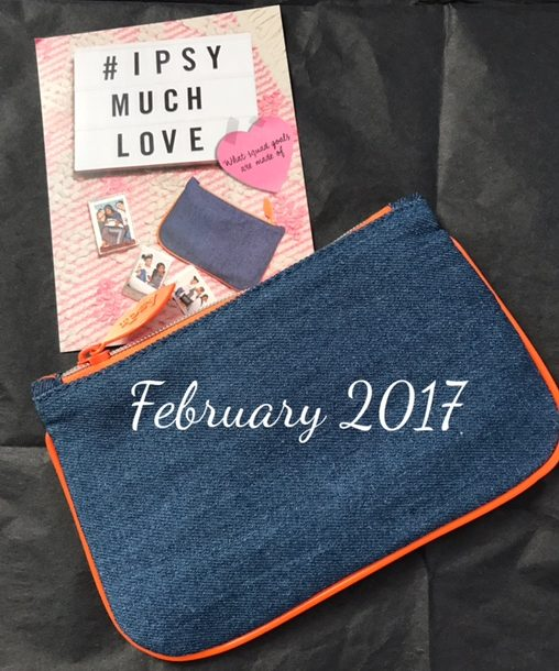 "February 2017 ""Much Love"" ipsy glam bag and theme card, neversaydiebeauty.com"