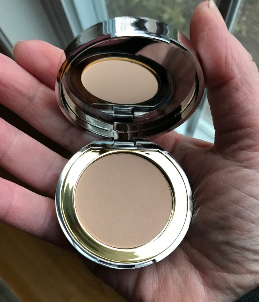 Mirabella Beauty Pre Press Mineral Foundation, shade II, open compact, neversaydiebeauty.com