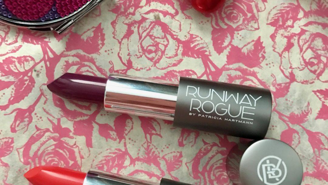 Runway Rogue lipstick bullets: After Party (purple), Stilettos (orange), neversaydiebeauty.com