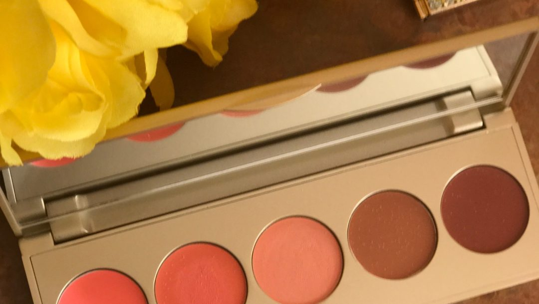 Stila Convertible Color Lip & Cheek Palette in Sunset Serenade shades, open to show pans, neversaydiebeauty.com