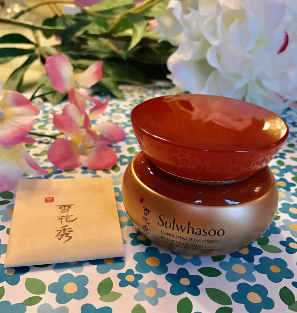 Sulwhasoo Concentrated Ginseng Renewing Cream Ex Light golden jar, neversaydiebeauty.com