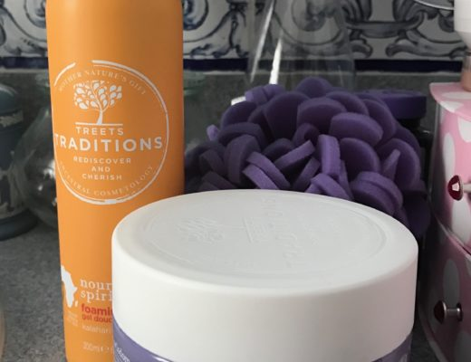 Treets Traditions Nourishing Spirits Foaming shower gel & Healing in Harmony Body Butter, neversaydiebeauty.com