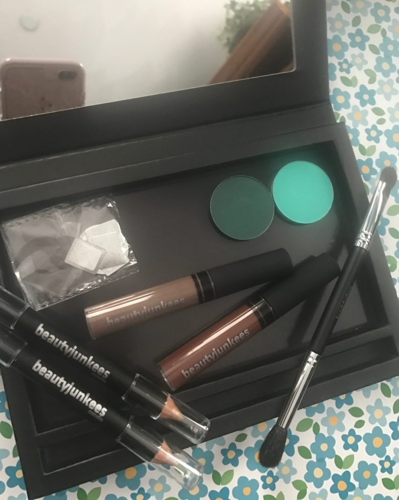 Beauty Junkees eye and brow makeup and tools, open, neversaydiebeauty.com