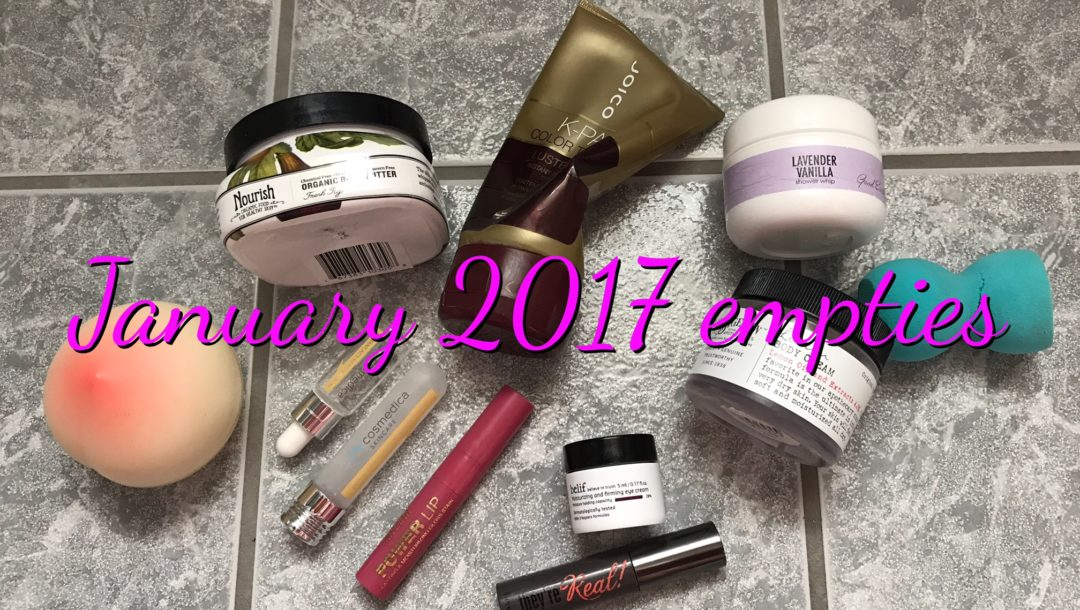 beauty products I used up, January 2017, neversaydiebeauty.com