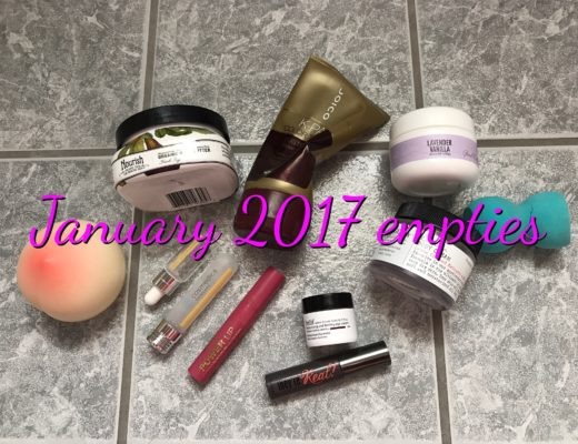 beauty products I used up, January 2017, neversaydiebeauty.com