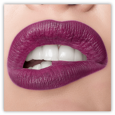 lip swatch of Runway Rogue matte lipstick shade After Party
